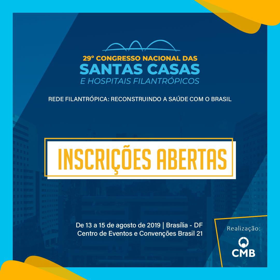 Inscrições abertas: 29º Congresso Nacional da CMB